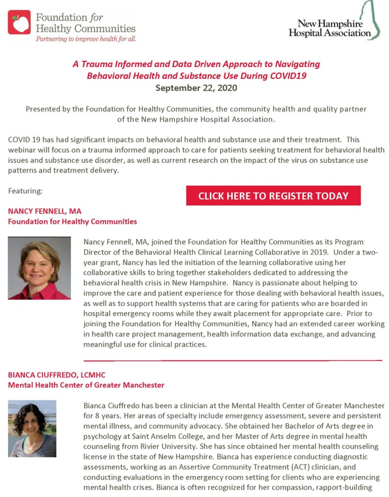 NE Hospital Associations Webinar Series NH Page 1