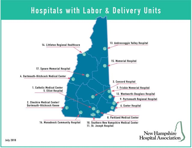 NH Hospitals with LD Units 2018